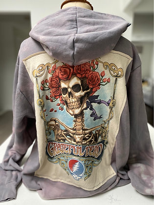 Upcycled Grateful Dead Pullover Hoodie - XL