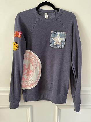 Upcycled Grateful Dead Crew Neck Sweatshirt