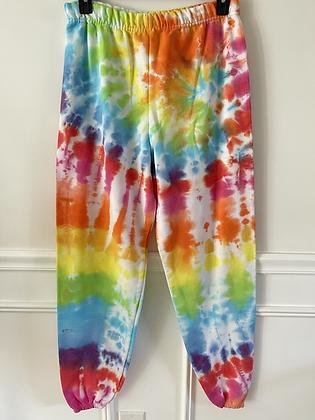 Adult Rainbow Tie Dye Sweatpants