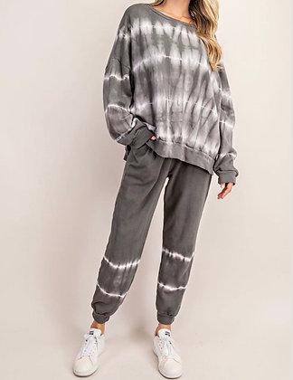 Charcoal Tie Dye Sweats Set