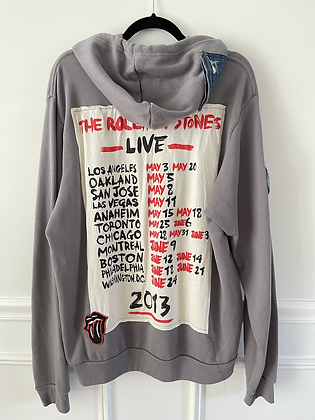 Rolling Stones Upcycled Hoodie