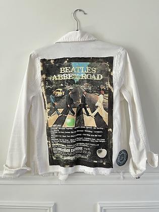 Beatles White Denim Jacket