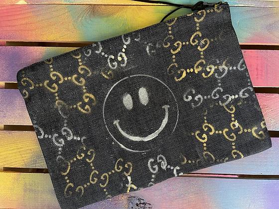 GG x Smiley Denim Pouch