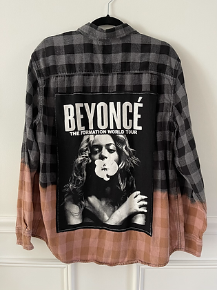 Adult Upcycled Beyonce Flannel