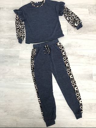Charcoal & Leopard Set