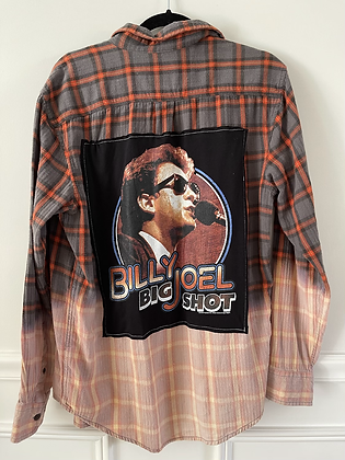 Adult Billy Joel Upcycled Flannel