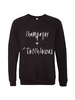 Champagne + Touchdowns Black/White