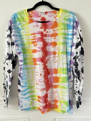Adult Long Sleeve Rainbow Dye