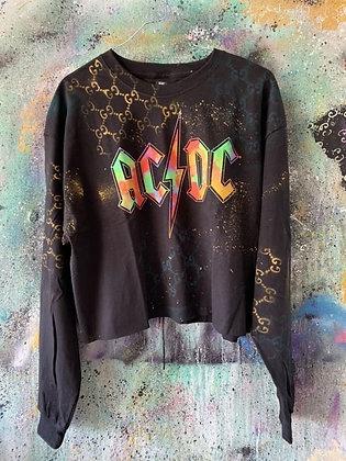 GG x AC/DC Crop L/S Top