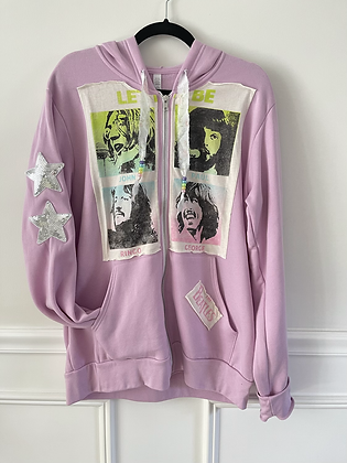 Adult Upcycled Beatles Zip Up