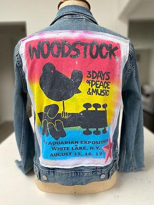 Womens Woodstock Upcycled Denim Jacket