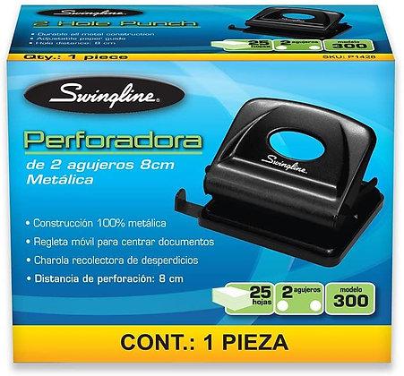 PERFORADORA DE 2 AGUJEROS 8CM METALICA