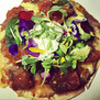Flower Power Cheesy Bean Tostada