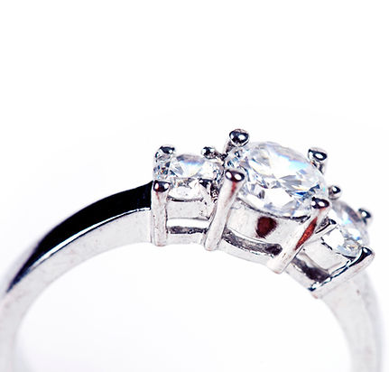 Engagement ring, wedding ring