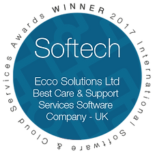 Softtech Winner 2017 - ECCO solutions ltd. Best Care & Support Services Software Company