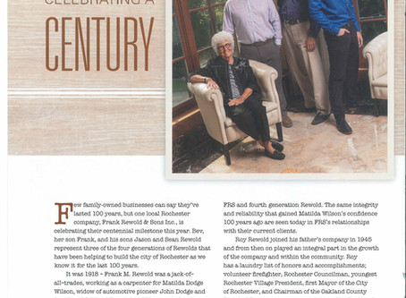 In Town Magazine: Celebrating a Century