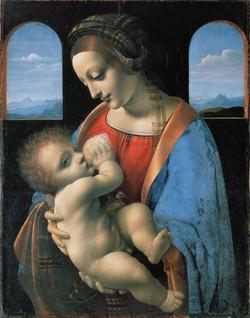 """Леонардо Да Винчи """"Мадонна с младен"""""""