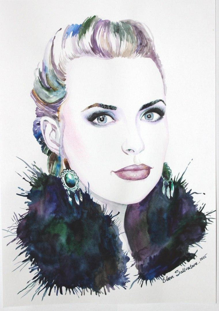 портрет в стиле fashion