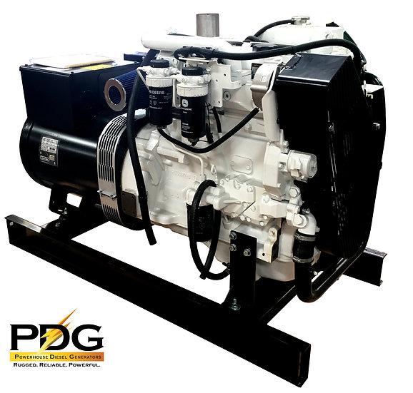 John Deere 60 kW Marine Diesel Generator (Keel Cooled)