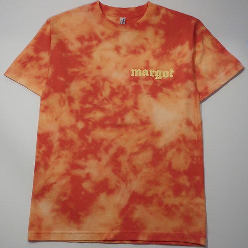 MARGOT x KFORREAL Bleach-dye Shop Tee, Coral Abstract