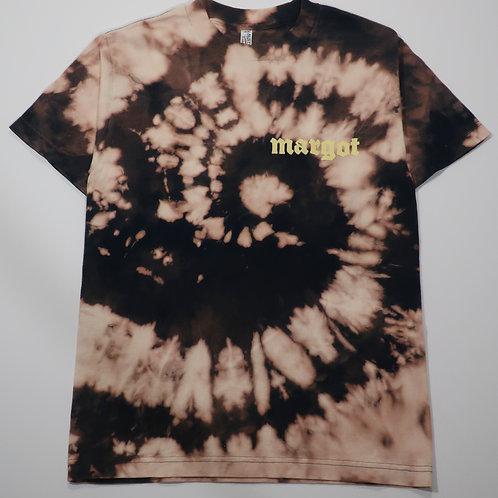 MARGOT x KFORREAL Bleach-dye Shop Tee, Navy Spiral