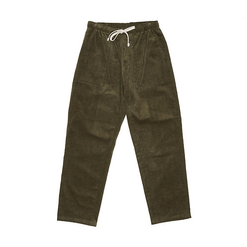 Battenwear- Active Lazy Pants, Olive 14-Wale Corduroy