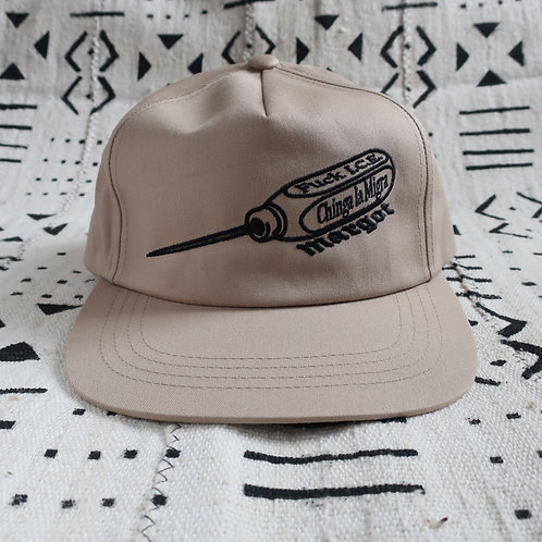I.C.E.PICK Snapback Hat, Khaki