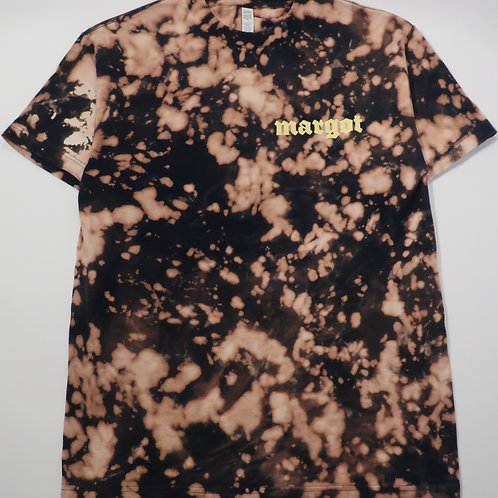 MARGOT x KFORREAL Bleach-dye Shop Tee, Navy Abstract