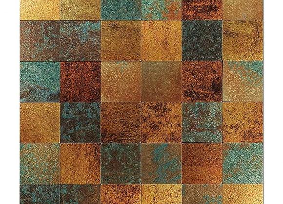 Zelfklevende Tegel Patina (28*28 cm) - Mozaiek Steenstrips