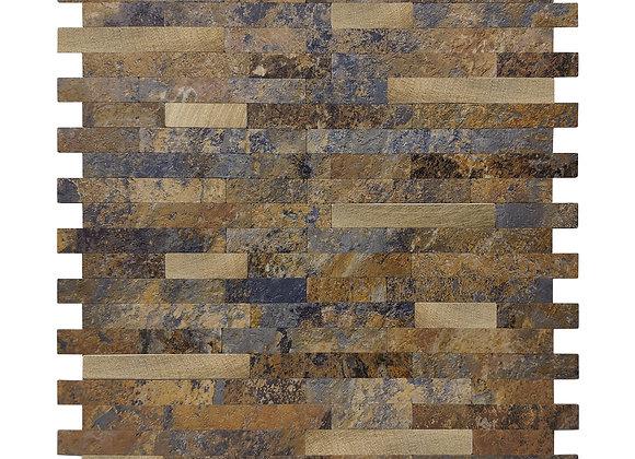Zelfklevende Tegel Look Mozaiek Roest(28.8*28.8cm) - Mozaiek Steenstrips
