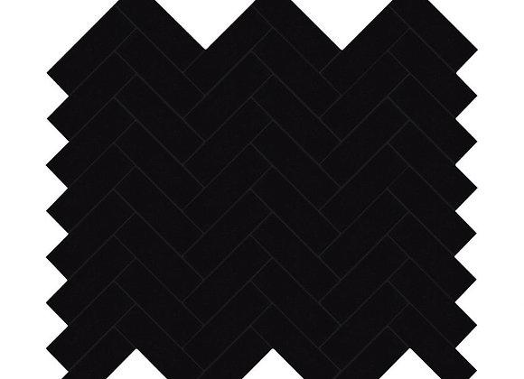 Zelfklevende Tegel Visgraat Zwart (28.2*28.2 cm) - Mozaiek Steenstrips