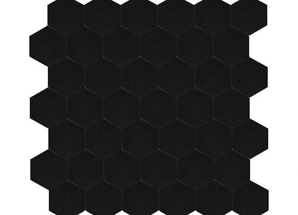 Zelfklevende Tegel Hexagon Zwart (28.8*28.8cm) - Mozaiek Steenstrips