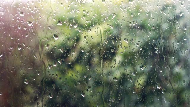 Raindrops on my window...