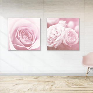 Softly pink roses dyptich
