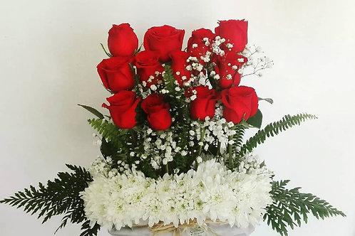 Arreglo 12 Rosas