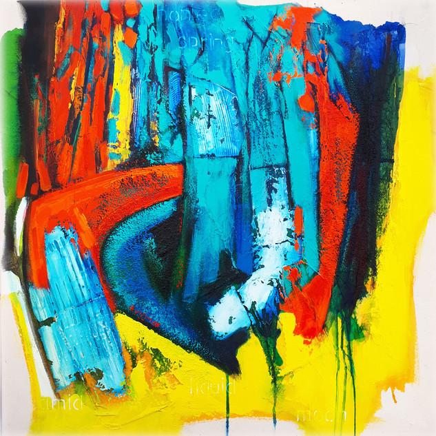 Honied Spring 2018 acrylic on canvas75x75 cms