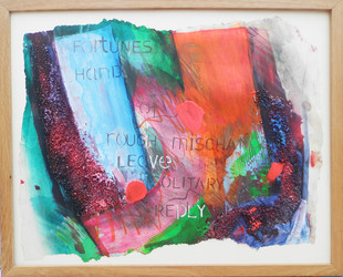 Fortunes Hand 2015 Acrylic, dye, graphite and collage on paper