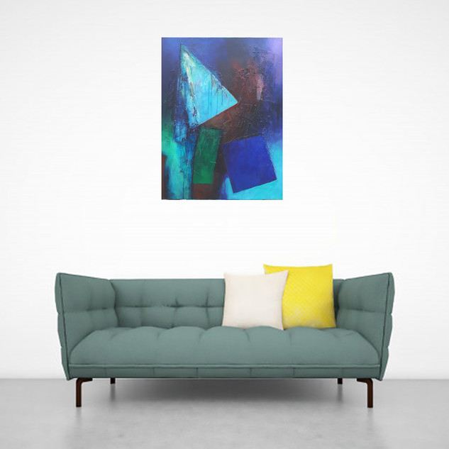 """""""Invisible landscape 1"""" in a room"""