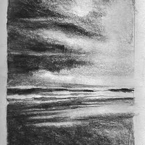 """""""Moon, Turn The Tides, Gently, Gently Away"""" drawing"""