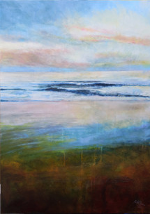 """""""Hole In The Rain"""" acrylic on canvas  70x100cms"""