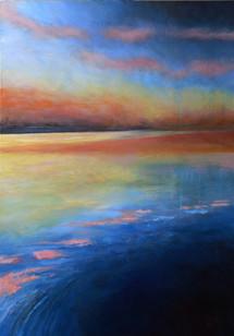 """""""Cooltide"""" acrylic on canvas  70x100cms"""