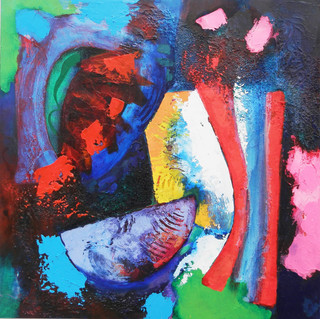 Xsingu 2014 acrylic on canvas 75x75cms