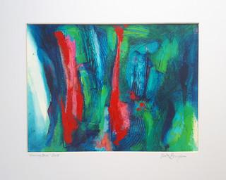 Evening Blue 2017 acrylic on canvas paper 28x20cms
