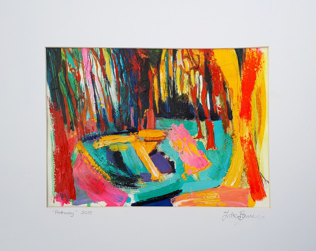 PATHWAY  2018 acrylic on canvas paper 28x20cms