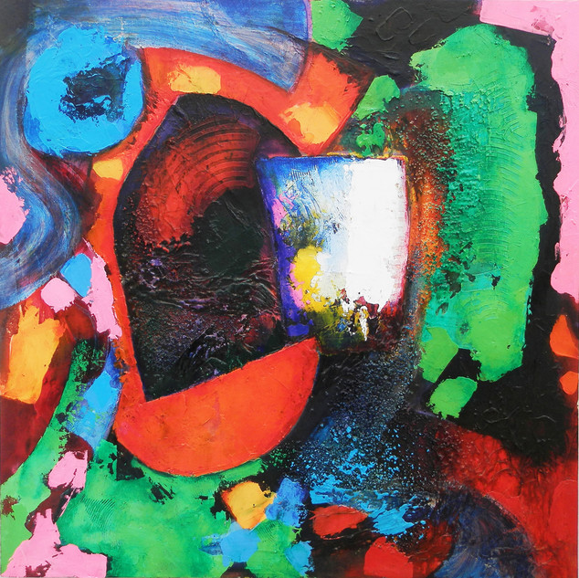 Songhai 2014 acrylic on canvas 75x75cms