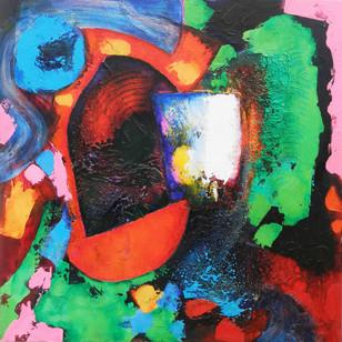Songhai 2014 acrylic on canvas 75x75cms