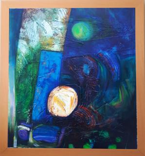 Echo Of Night 89x81 cms acrylic on canvas