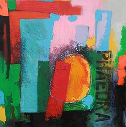 Phaedra - Frank Barnes acrylic on canvas