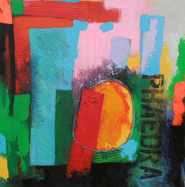 Phaedra 2014 acrylic on canvas 100x100cms
