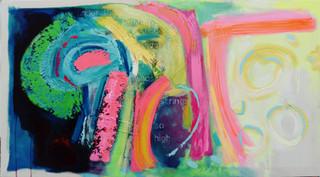 In Sacharissa's Name 2017 acrylic on canvas 135x75cms